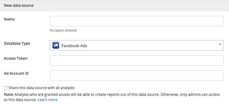 Facebook Data Source