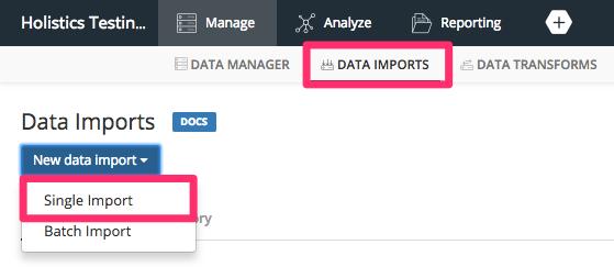 New Data Import